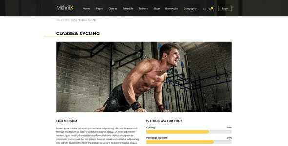 MithrilX – Fitness & Gym PSD Template