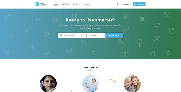 Hire a Helper - Home Multi Services Provider HTML Template