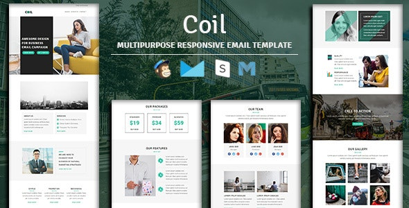 Coil - Multipurpose Responsive Email Template - Newsletters Email Templates