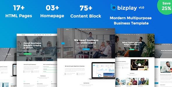 Bizplay - Business, Consultation & Finance PSD - Corporate Photoshop
