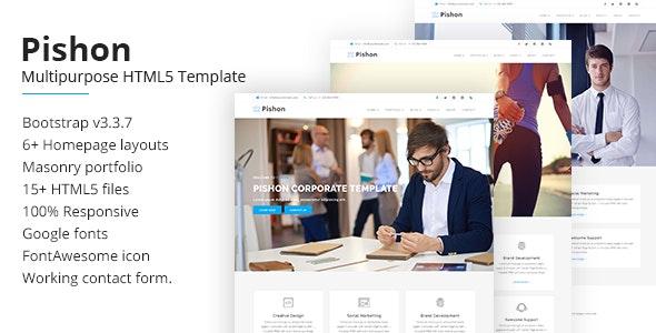 Pishon – Multipurpose HTML5 Template - Corporate Site Templates