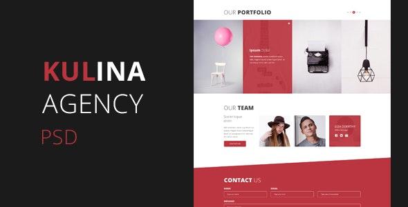 Kulina Agency - One Page PSD - Corporate PSD Templates