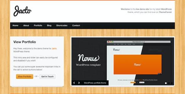 Jacto WordPress Portfolio