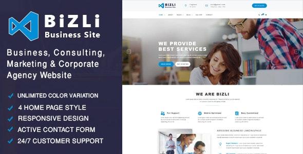 Bizli - Business Consulting, Finance, Corporate, Marketing , Agency Template - Business Corporate