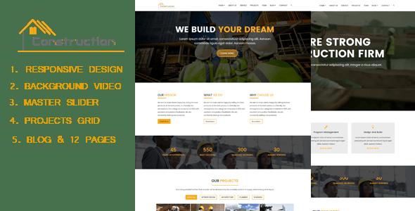 Dmax Construction - Construction HTML Responsive Template - Corporate Site Templates