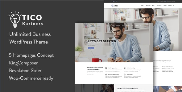 Tico - Responsive Business WordPress Theme - Business Corporate