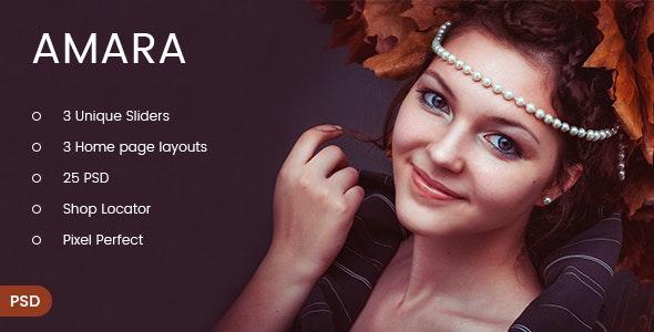 Amara - eCommerce Fashion PSD Template - Fashion Retail