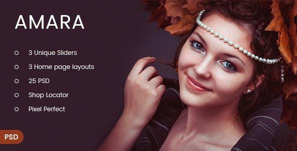 Amara - eCommerce Fashion PSD Template