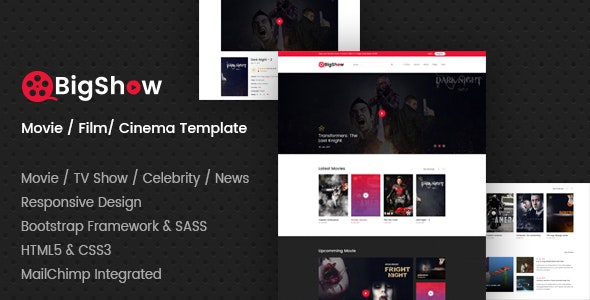 BigShow - Movie / Film / Cinema Template - Film & TV Entertainment