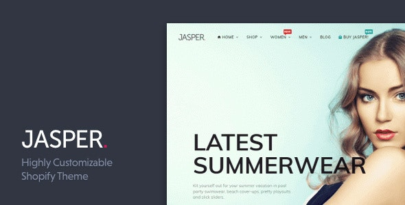 Jasper - Sectioned Drag&Drop Shopify Theme - Fashion Shopify