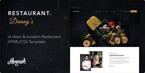 Dannys | Restaurant and Cafe HTML template - Restaurants & Cafes Entertainment