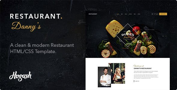 Dannys   Restaurant and Cafe HTML template