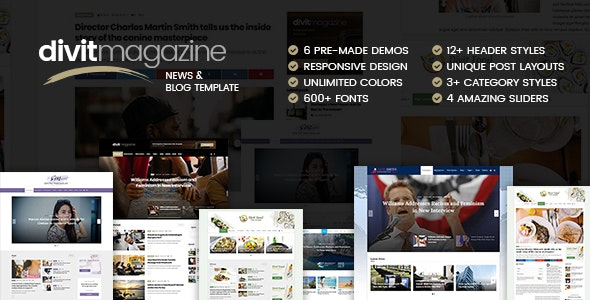 Divit - Multipurpose Magazine Template - Entertainment Site Templates
