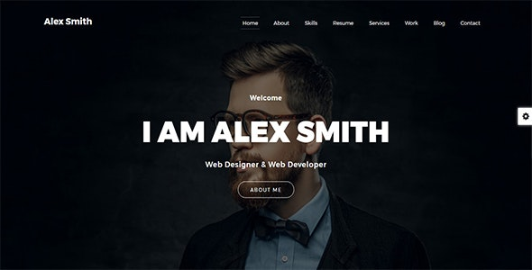 Alex - vCard Personal Portfolio - Personal Site Templates
