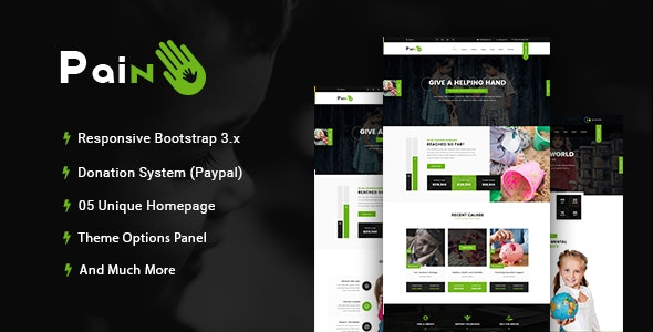 Pain - Charity & Nonprofit WordPress Theme - Charity Nonprofit