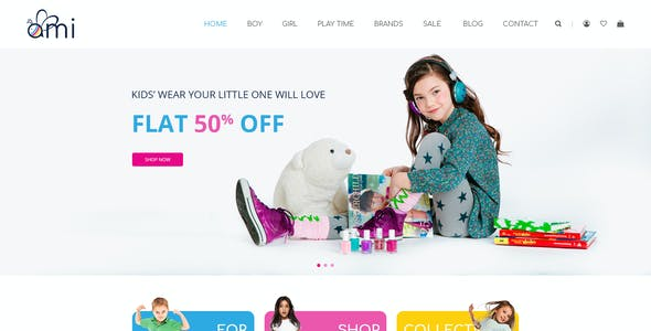 Ami - Kid Shop PSD Template
