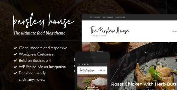 Parsley - A Recipe WordPress Blog Theme - Personal Blog / Magazine
