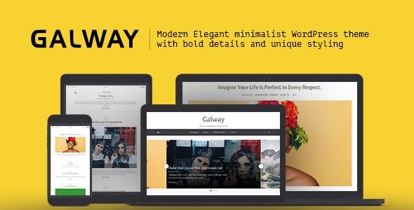 Galway - A Clean Minimalist WordPress Blog Theme - Blog / Magazine WordPress