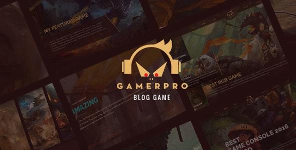 GAMERPRO - Fantastic Blog PSD Template for GAME SITES - Entertainment Photoshop