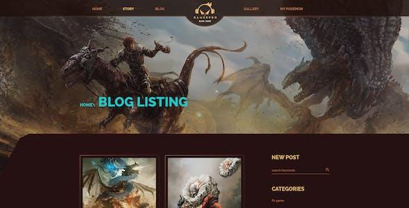 GAMERPRO - Fantastic Blog PSD Template for GAME SITES