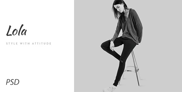Lola - Minimal eCommerce Fashion PSD Template - Photoshop UI Templates