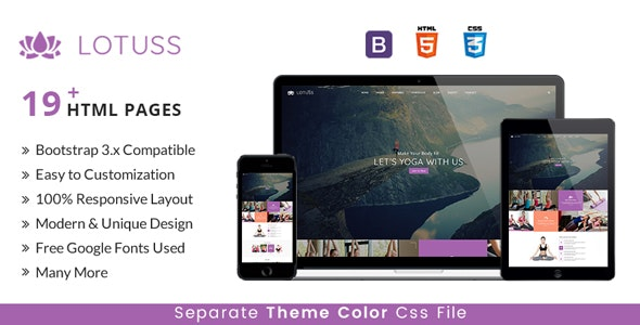LOTUSS -  Multipurpose  HTML Template For Yoga, Gym & Fiteness - Health & Beauty Retail