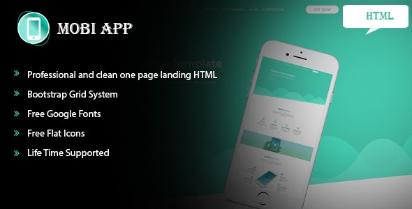 Mobiapp HTML5 Responsive Template - Technology Site Templates
