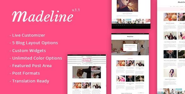 Madeline Fashion Blog WordPress Theme - Personal Blog / Magazine