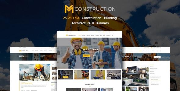 MConstruction - Construction & Building PSD - Corporate Photoshop