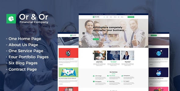 Or & Or - PSD Template - Corporate Photoshop