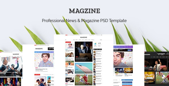 MAGZINE - News Magazine Newspaper PSD Templates - Corporate Photoshop
