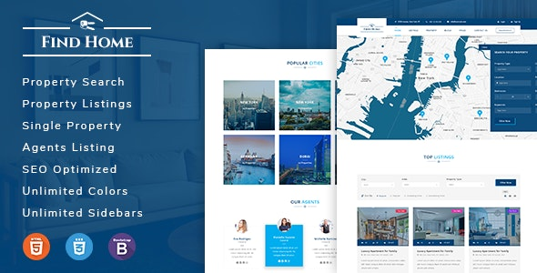 Findhome - Real Estate HTML Template - Business Corporate