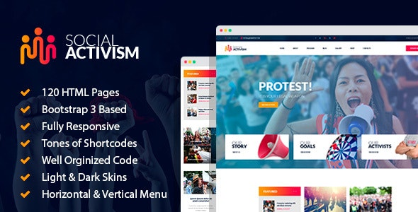 Social Activism - Non-Government Organization HTML Template with builder - Activism Nonprofit