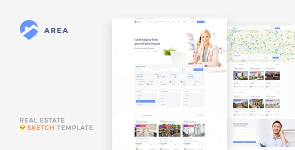 Area — Real Estate Agency and Realtor Sketch Template