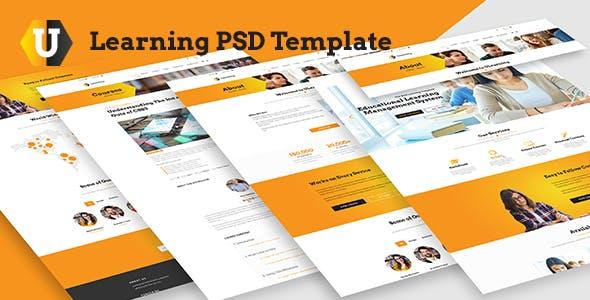 U Learning PSD Template