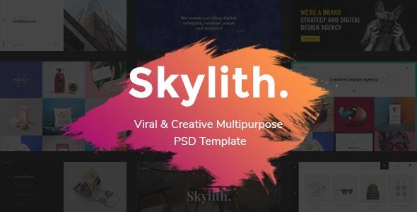 Skylith - Multipurpose Creative PSD Template - Creative Photoshop