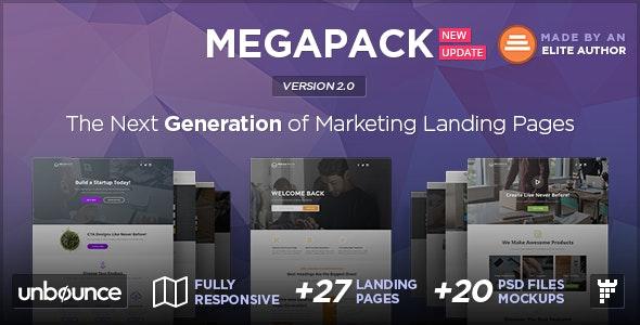 MEGAPACK - Multipurpose Unbounce Landing Pages Pack - Unbounce Landing Pages Marketing