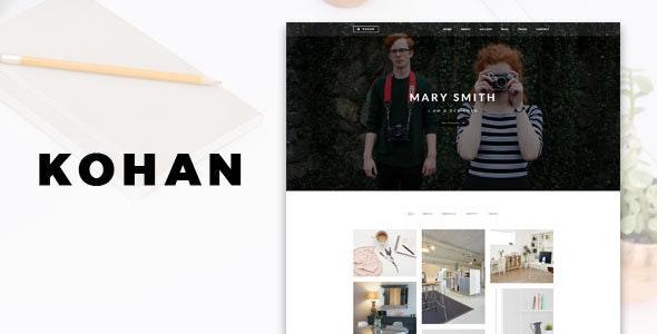 Kohan - Minimal Portfolio WordPress Theme - Portfolio Creative