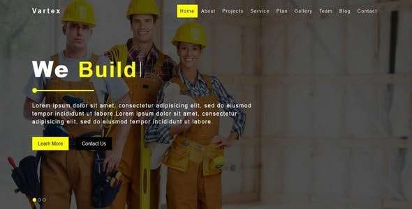 Vartex - Construction & Architecture Template - Business Corporate