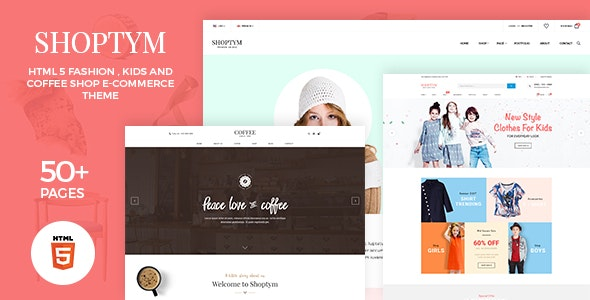 Shoptym | Responsive Multipurpose Ecommerce HTML5 Template - Site Templates