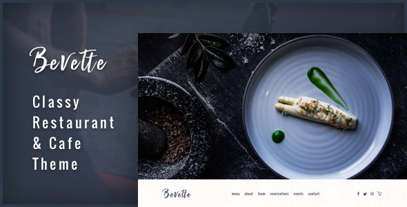Bevette - classy restaurant & cafe theme - Restaurants & Cafes Entertainment