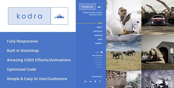 Kodra - Full Screen Portfolio HTML Template - Photography Creative