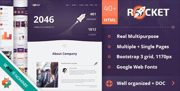 Rocket - Creative Multipurpose HTML Template - Creative Site Templates