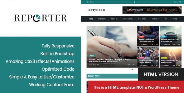 Max Reporter - HTML Magazine Template - Miscellaneous Site Templates