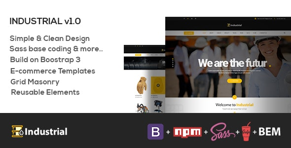 Industrial - Industry & Shipping Business HTML Template - Marketing Corporate