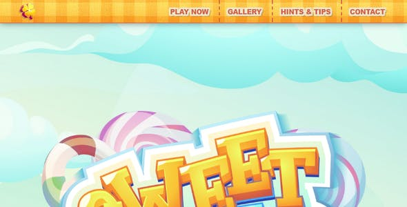 Sweet World: The Ultimate One-Page Premium Casual Gaming PSD Template