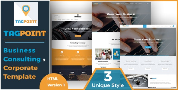 TAGPOINT - Business Consulting and Corporate HTML Template - Corporate Site Templates