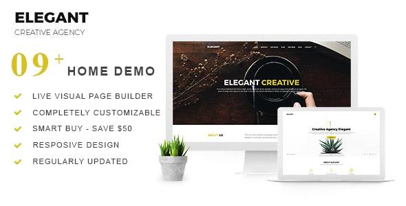 Elegant   Creative Agency WordPress Theme - Creative WordPress