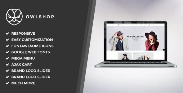 Owlshop - Minimalist Ecommerce Shopify Theme