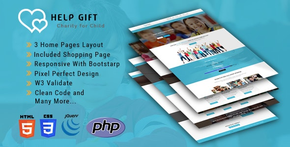 HelpGift - Non-profit, Charity, Fundraising HTML5 Template - Charity Nonprofit